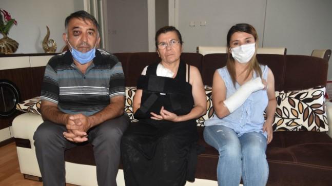 Antalya'da davada şahitlik yaptılar, şemsiye sopasıyla darbedildiler